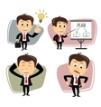 businessman in various poses vector image