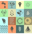 Ecology icons Set 01 vector image