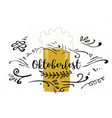 holiday greetings oktoberfest vector image