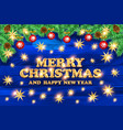 merry christmas with 3d typography design and vector image