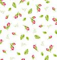 Pattern with small buds roses vector image