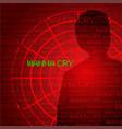 Wanna cry cyber virus vector image