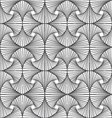 Zentangle pattern with black and white vector image
