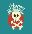 Skull and bones Halloween vector image