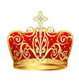 royal gold crown with jewels vector image vector image