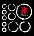 set of hand painted ink circles vector image
