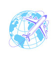 icon silhouette of an airplane vector image