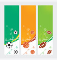sports banners - soccer football amp basketball vector image