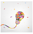 Creative light bulb Idea concept background design vector image