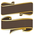 leather ribbon collection vector image