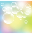 Abstract colorful background with transparent vector image