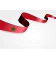 Moroccan flag background vector image vector image
