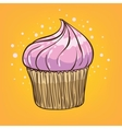 muffin cartoon vector image vector image
