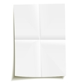 folded sheet of paper vector image
