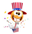 july fourth independence day smile uncle sam vector image