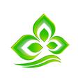 Leaf icon logo vector image