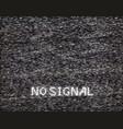 no signal in analog tv vector image