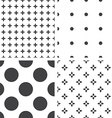 Set of monochrome geometric seamless universal vector image