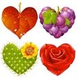shape of heart set vector image