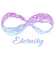 sign of eternity with a boho pattern and col vector image