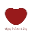 Valentines Day realistic red paper Card Heart vector image
