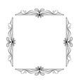 vintage elegant square frame with leaves vector image