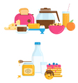 with Healthy Breakfast vector image