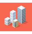 Isometric 3D city vector image