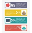 Infographic of money and financial item design vector image