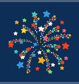 firework shapes colorful festive icon vector image