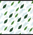 seamless pattern of lily of the valley sprigs with vector image