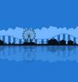 scenery amusement park background silhouette vector image