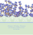lavender card province style detailed vector image