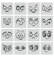 black cartoon eyes set vector image