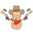 Cartoon peanut vector image