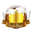 Fresh beer label vector image