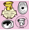 set of elements for making logos with toilet bowl vector image