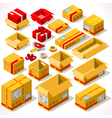 Packaging 02 Objects Isometric vector image