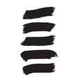 abstract inky black artistic brush rectangle set vector image