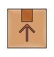 box carton delivery icon vector image