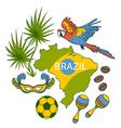 brazil symbols set vector image