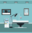 clinic room consultation care vector image