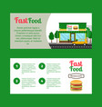 fast food restaurant horizontal flyers vector image