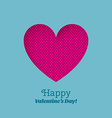 Greeting Card Happy Valentines Day with carved vector image