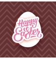 Happy Easter lettering on white egg and chocolate vector image