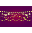 holidays christmas and new year lights collection vector image