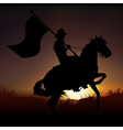 Horse and Horseman vector image