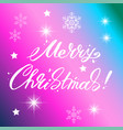 merry christmas text design lettering vector image