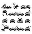 Road accident car crash personal injury vector image