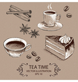 Tea Time Set vector image